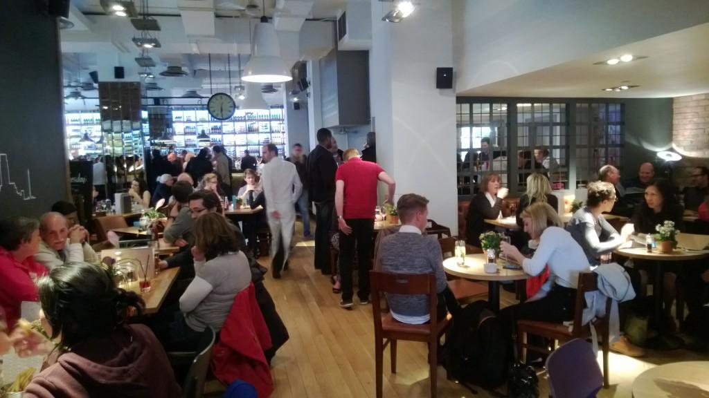 Busy London bar